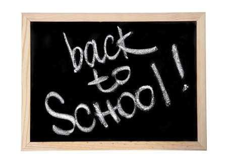 blackboard with the written words back to school photo