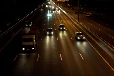 cars move on the night highway Stock Photo - 17570830
