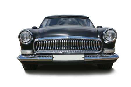 old black luxury of car isolated Standard-Bild