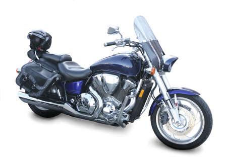 большой блестящий мотоцикла на белом фоне Фото со стока