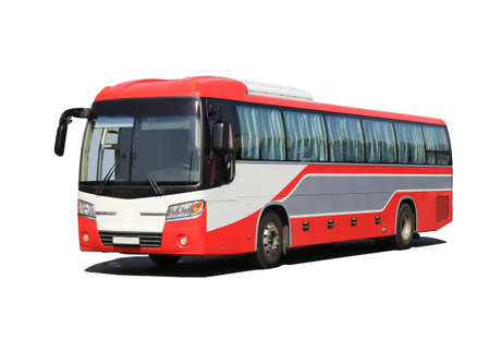 new modern tourist bus it is isolated Stock Photo