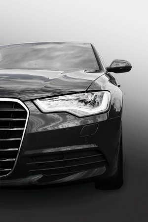 prestige: black prestige  car close up iisolated