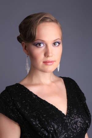 portrait beautiful elegant Russian girl photo