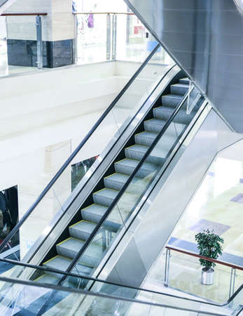 escalator steps in an interior of shopping center Stock Photo - 25208828