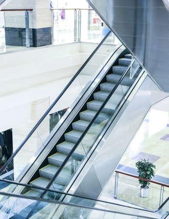 escalator steps in an interior of shopping center Stock Photo - 25208828