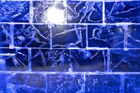 full frames: ice transparent wall from rectangular blocks