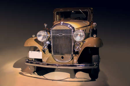 shined: ancient car shined with bright light