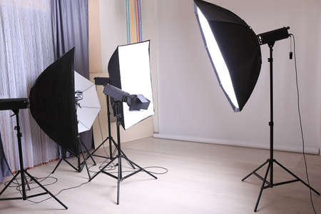 interior lighting: interior modern studio photo with studio lighting
