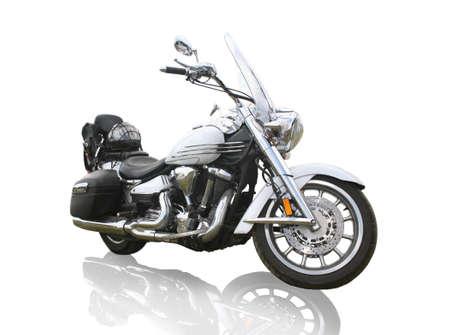 grote krachtige motorfiets op een witte achtergrond Stockfoto