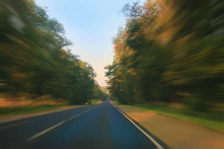 country highway: country highway beautiful look in movement Stock Photo