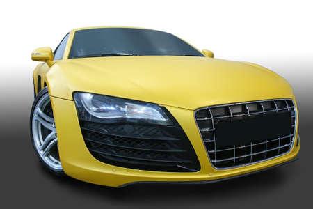 yellow car: beautiful modern yellow sports car
