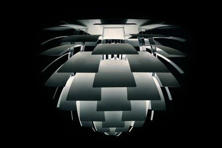 lamellar: modern chandelier from metal lamellar segments
