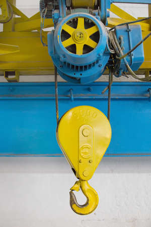 heave: electric industrial five ton elevator close up