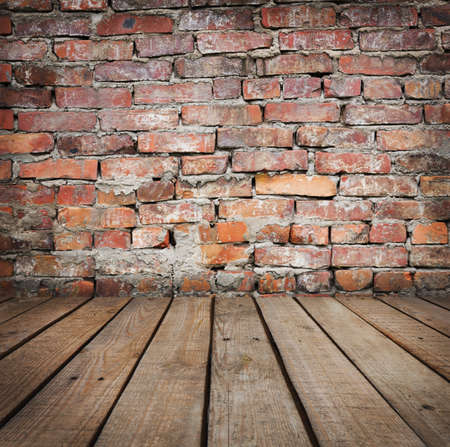 timber floor: Studio background with brick wall and  timber floor