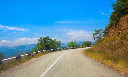 distric: Crimea the twisting highway in the mountain distric