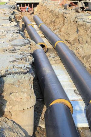 tuberias de agua: colocaci�n de nuevas tuber�as de agua aisladas