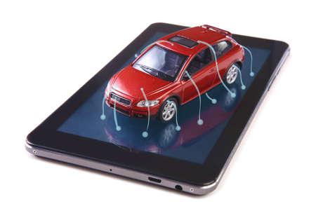 diagnostics: computer diagnostics concept car status