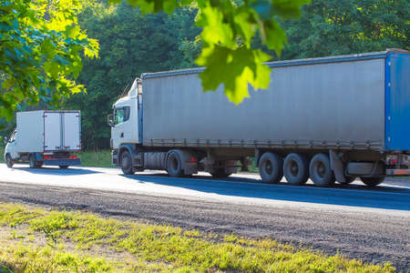 country highway: trucks go on the country highway