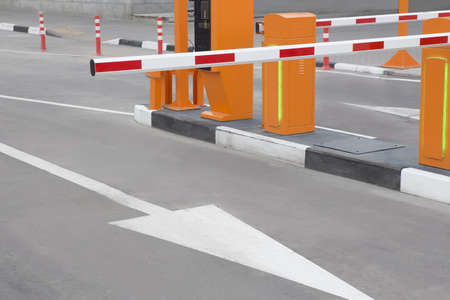 blocking: barrier blocking entrance on closed territory