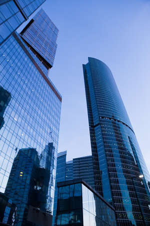 high buildings of modern business center