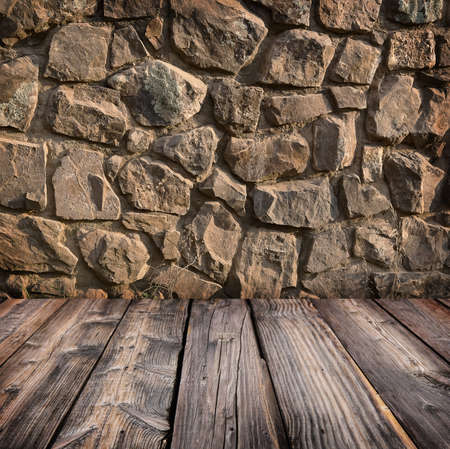 timber floor: stone wall and timber floor studio background