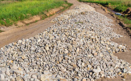 agricultural engineering: Construction of gravel road in rural areas