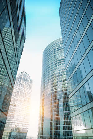 high buildings of modern business center