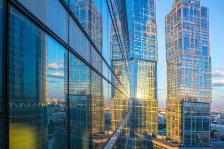 High rise buildings of Moscow business center Moscow - city