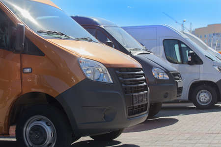 new minibuses and vans outside