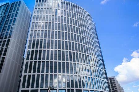 Modern futuristic skyscrapers with glass facades 版權商用圖片 - 138258292