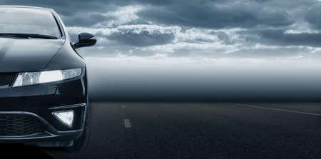 Headlight of  modern prestigious car detail close up. 写真素材