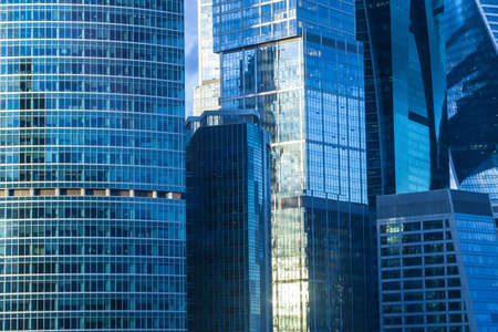 high buildings of modern business center Stock Photo
