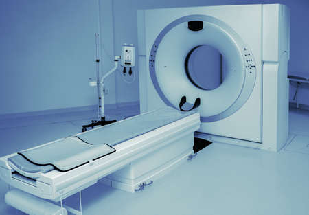 Magnetic Resonance Therapy. Medical tomograph in clinic Imagens