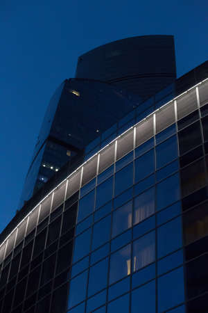Modern high corporate building at night