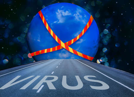 Virus-infected globe, no transportation photo