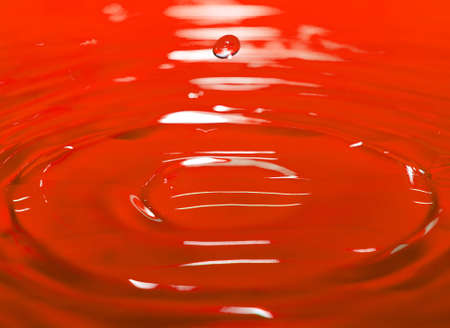 red drop fall in water Stock Photo - 4268555