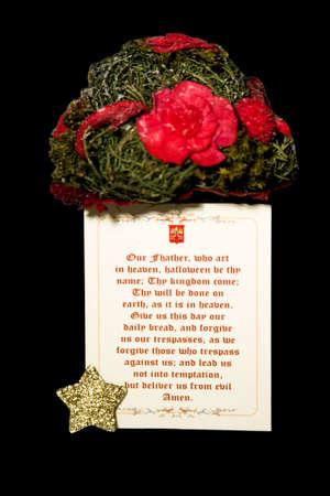 Prayer with Valentine flowers  Stock Photo - 4274228