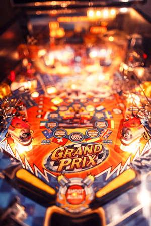 Pinball juego de arcada Foto de archivo - 70298851