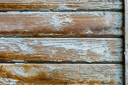 old wood horizontal texture background with peeling paint