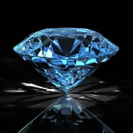diamond on black background Stock Photo - 7924781