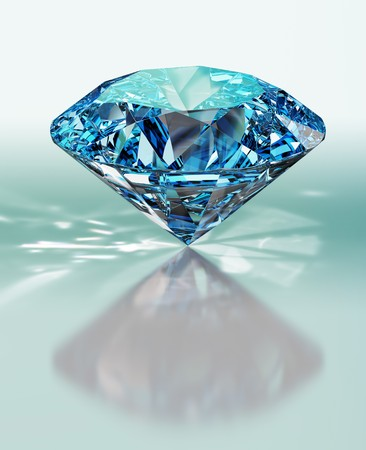 queen diamonds: diamante. rendering 3D Archivio Fotografico