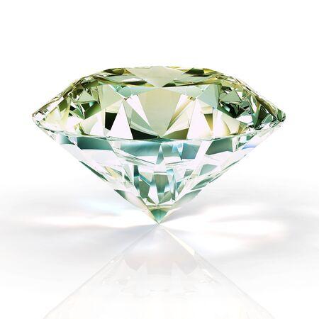 piedras preciosas: Diamante aislados en fondo blanco - 3d de procesamiento