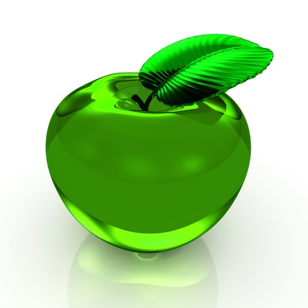 apple green isolated on white background - 3d render