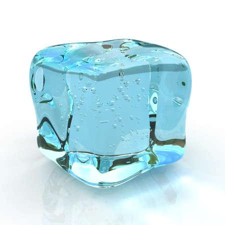 ice cube isolated on white background. photo