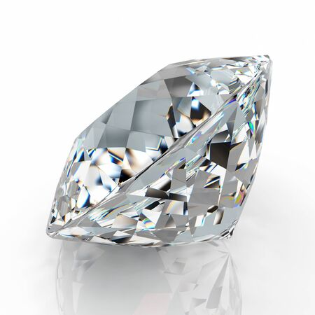 diamond isolated on white background - 3d render