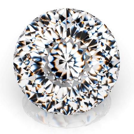 scintillate: Diamante hab�a aislado sobre fondo blanco - 3d de procesamiento. Foto de archivo