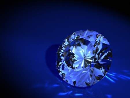 diamond on blue background Stock Photo - 8528887