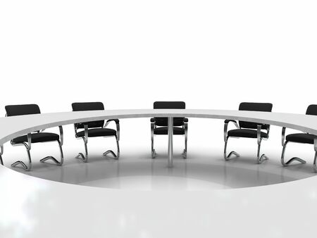 conference table and chairs isolated on white background Stock Photo - 8548186