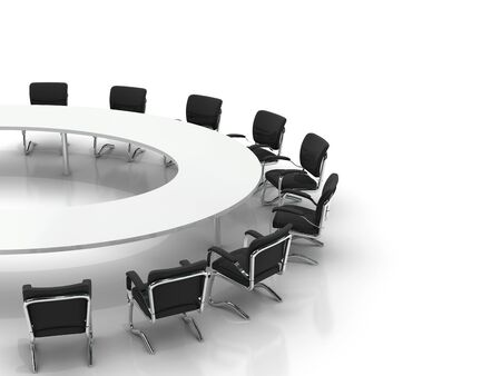 conference table and chairs isolated on white background Stock Photo - 8548170