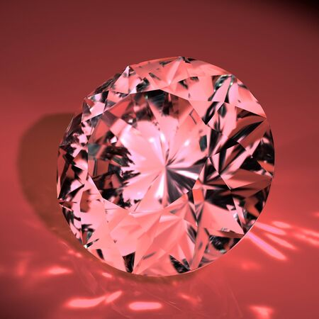 diamond on red background Stock Photo - 8548175